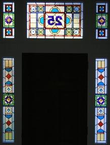 Leadlights Glass Door