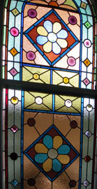 Victorian Leadlight Glass Door