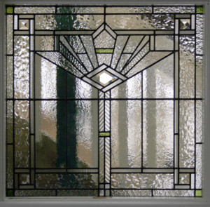 Art Deco Leadlight Door