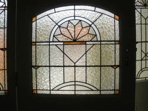 Art Deco Leadlight Glass Door
