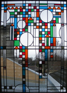 Contemporary Leadlight Glass Door