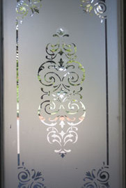 Sandblasting Glass Door