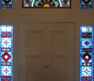 Victorian Leadlight Glass Door