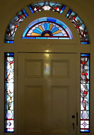 Stained Glass Front Door Surrounds Wesley Vine